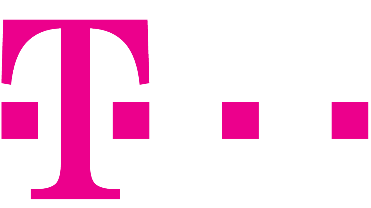 shows the company logo of Deutsche Telekom